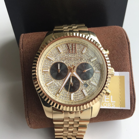 e303fb139cf5 BRAND NEW Michael Kors Gold Unisex Watch MK8494